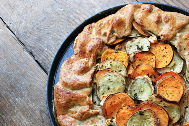 Sweet Potato Galette with Goats Cheese and Thyme, Sweet Potato Galette recipe, veggie galette recipe