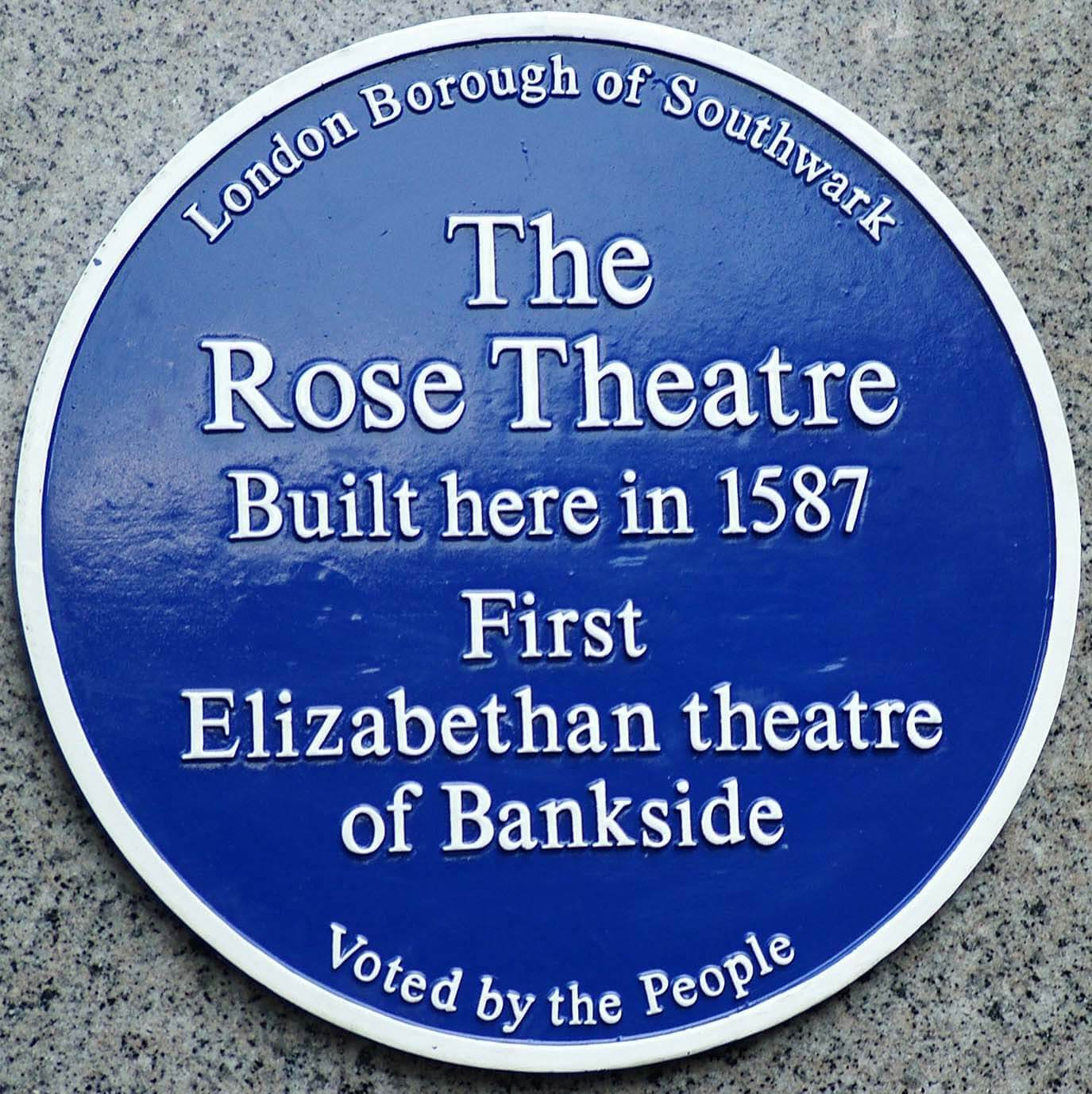 Rose Theatre blue plaque  copy