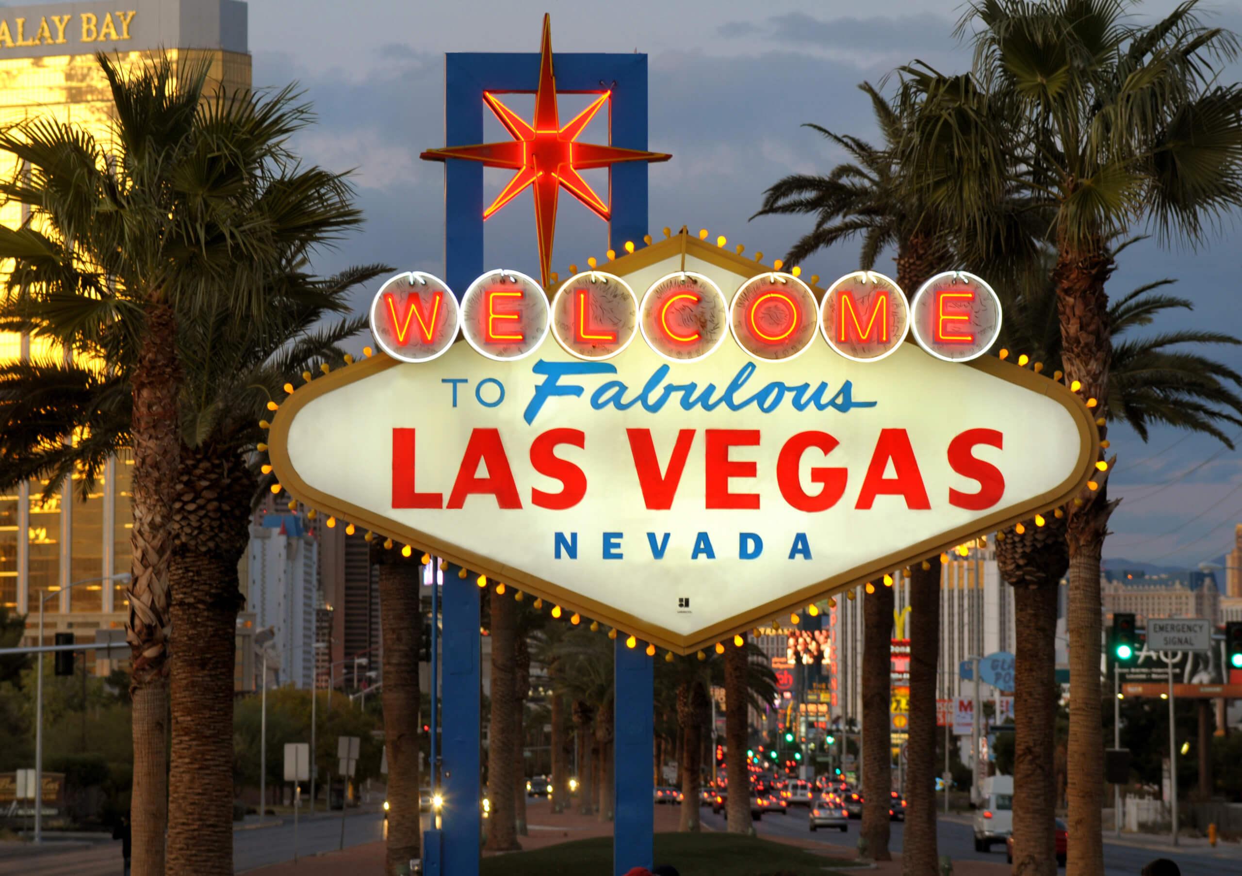 Welcome to Las Vegas sign on the Las Vegas Strip. 11/13/09