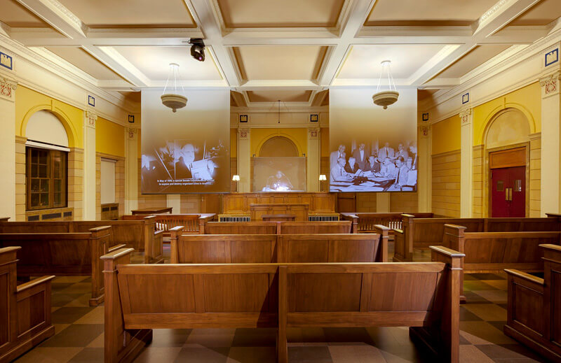 Las Vegas - Mob Museum - The courtroom where one of the nationwide hearings to expose organized crime took place