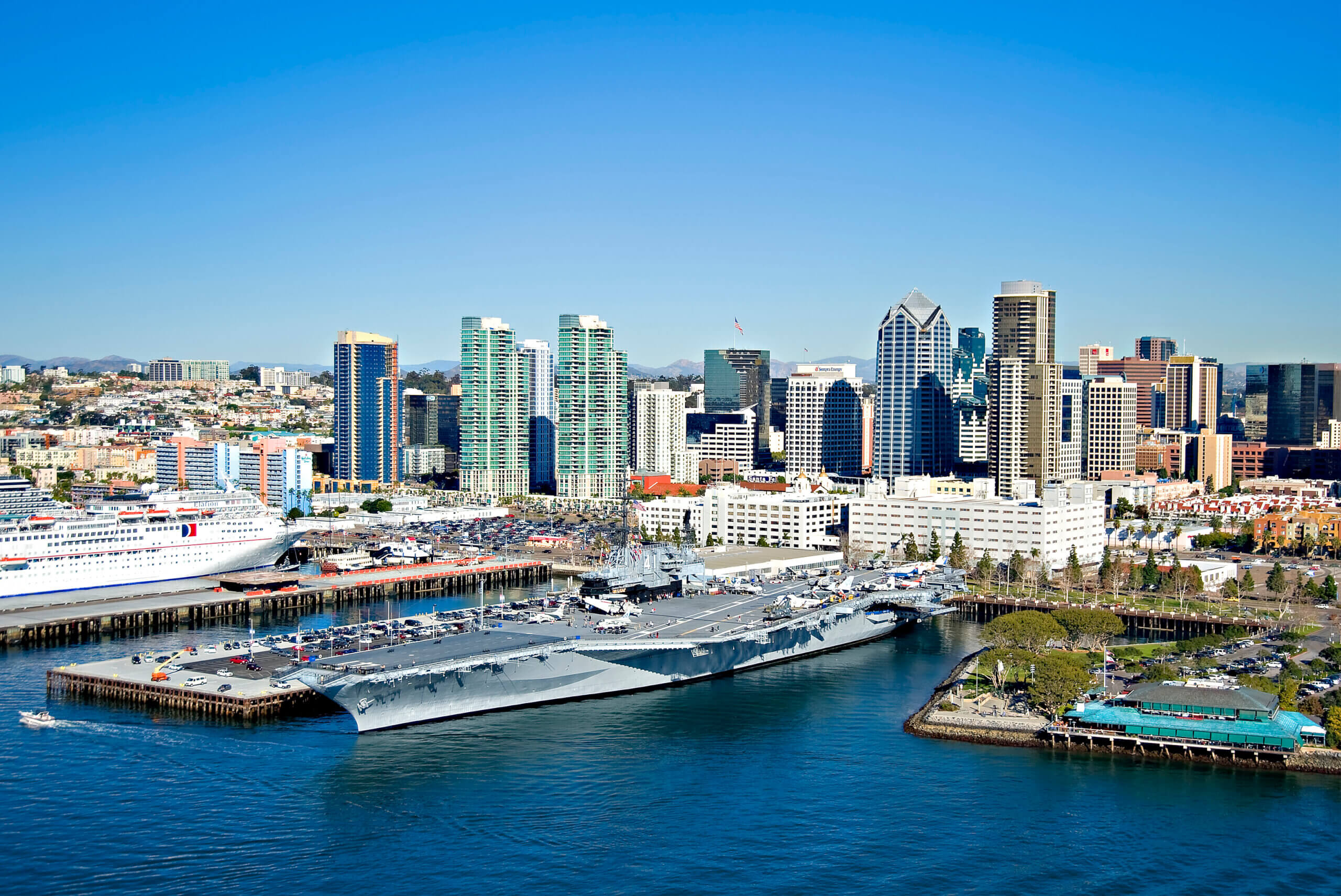 Imagine experiencing life at sea aboard one of America's longest-serving aircraft carriers. Visitors to the USS Midway Museum enter a floating city at sea and walk in the footsteps of , Midway sailors who served our country and upheld the American ideals of strength, freedom, and peace.