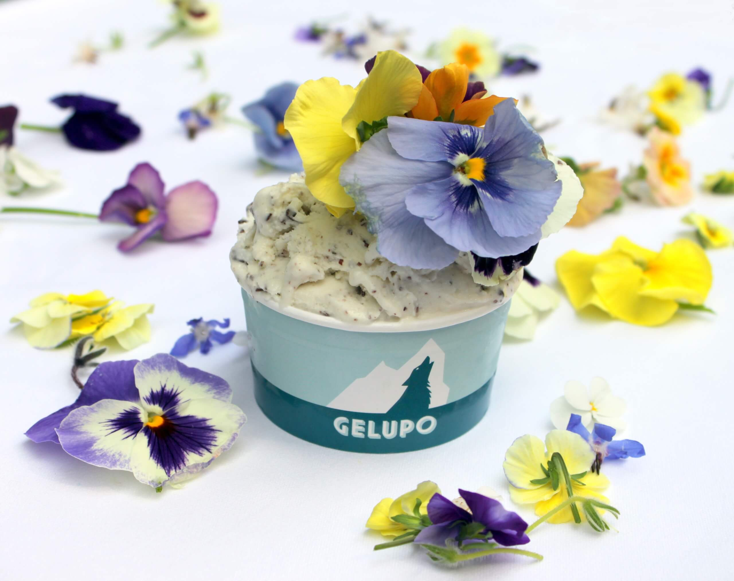 Gelupo EdibleFlower, eat flowers, flower, floral, chelsea flower show, chelsea, beautiful, summer, health, healthy, plate, seasonal, fresh, yummy, beautiful, stunning, creative, chef, cook, ice cream