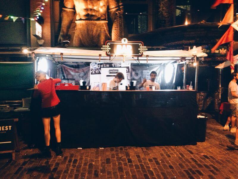 Open-Air Cinema, burger, camden town, cinema food, outdoor cinema food,
