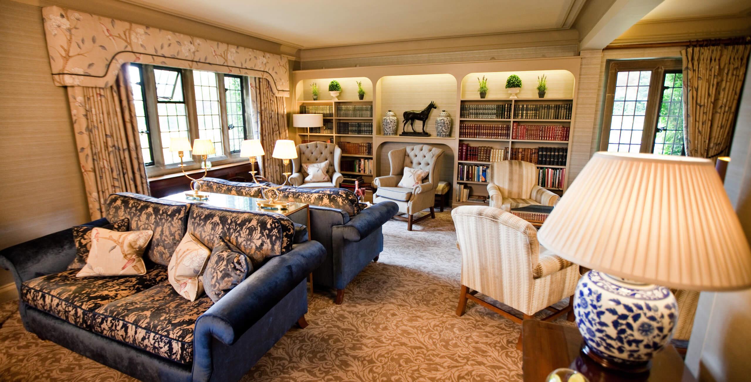 Lounge sofas window lamp