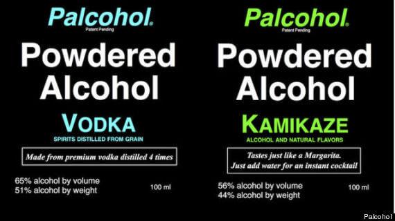 powdered alcohol, PALCOHOL
