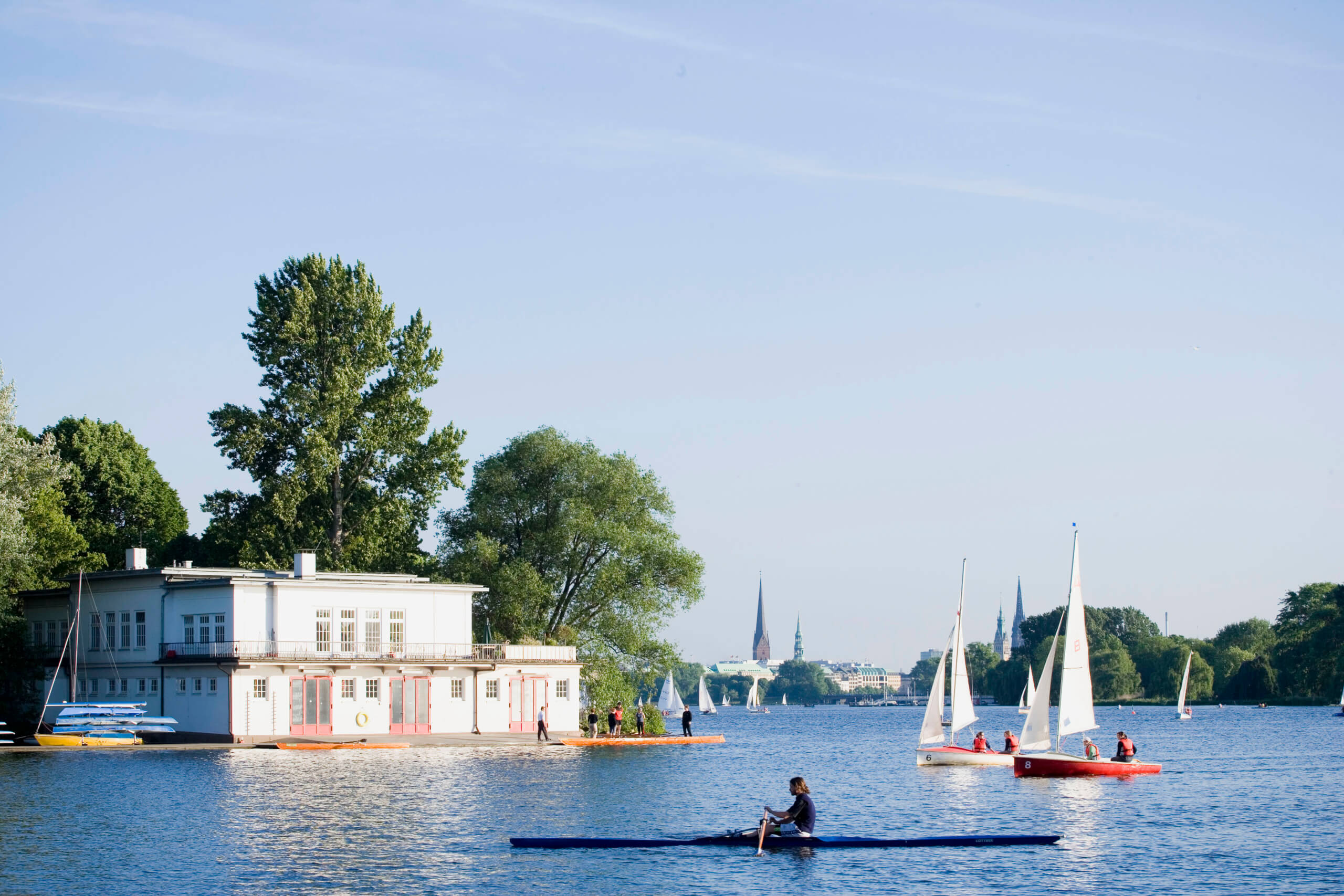 Rent a pedalo around Alster lake, Marketstrasse, Hamburg, germany, where to travel in germany
