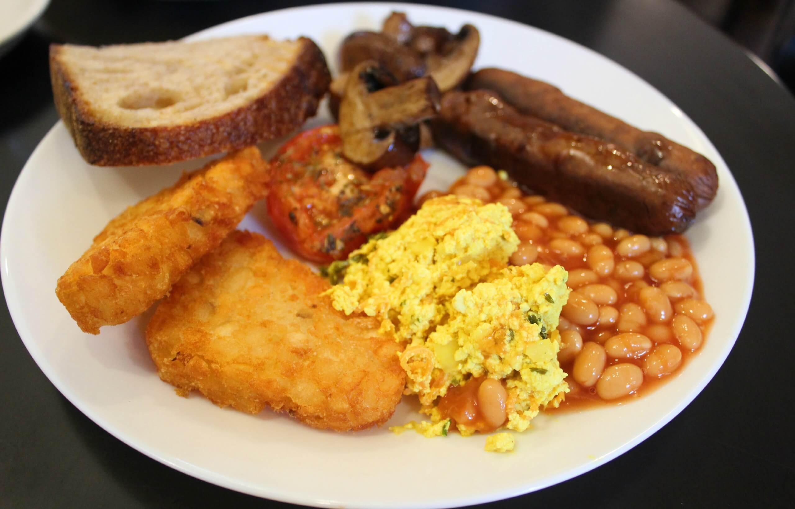 The Gallery Cafe Vegan Breakfast