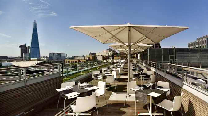 Stunning views over the City of London from the Skylounge south terrace. Open to residents and non residents.