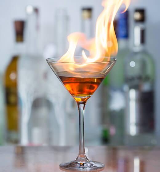The Rib Room Bar and Restaurant Blazer cocktail