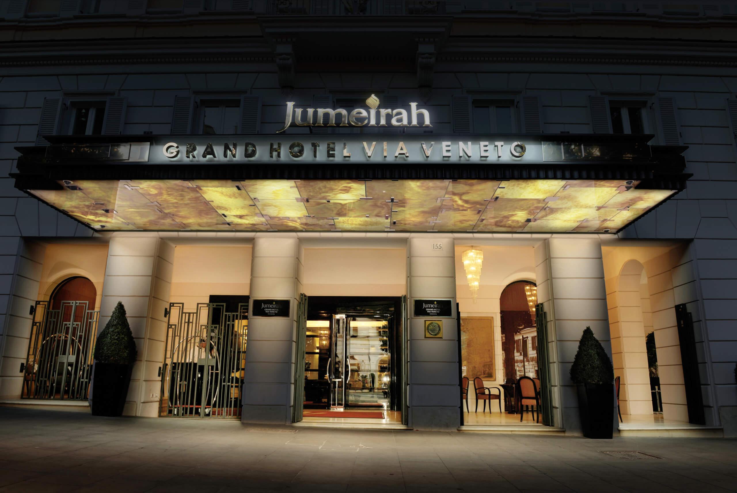 Jumeirah_Grand_Hotel_Via_Veneto_-_The_Entrance_Night_Shot