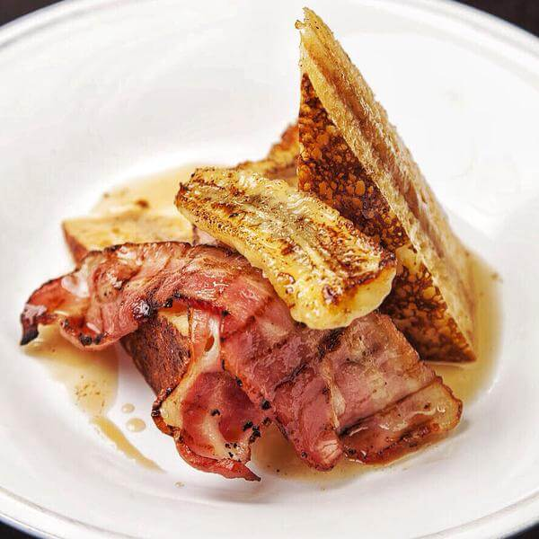 What Caramelised Banana Eggy Bread Bacon Maple Syrup 7