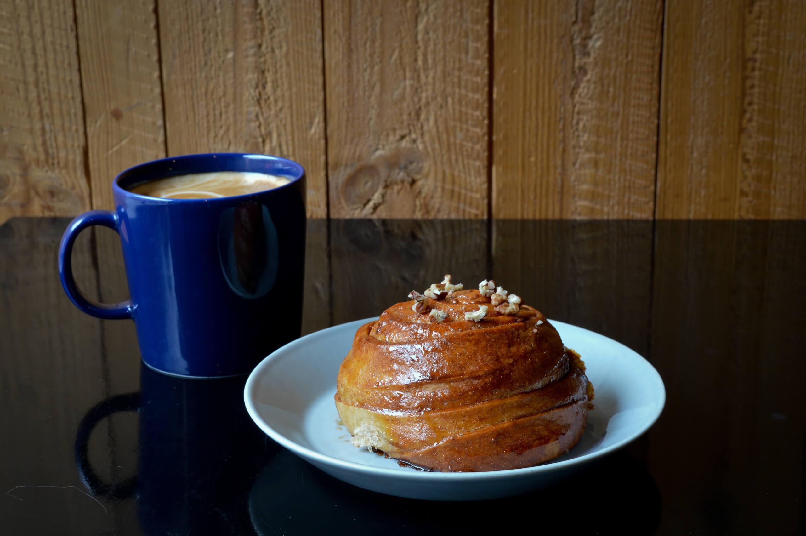 Nordic Bakery caramel & pecan cinnamon bun