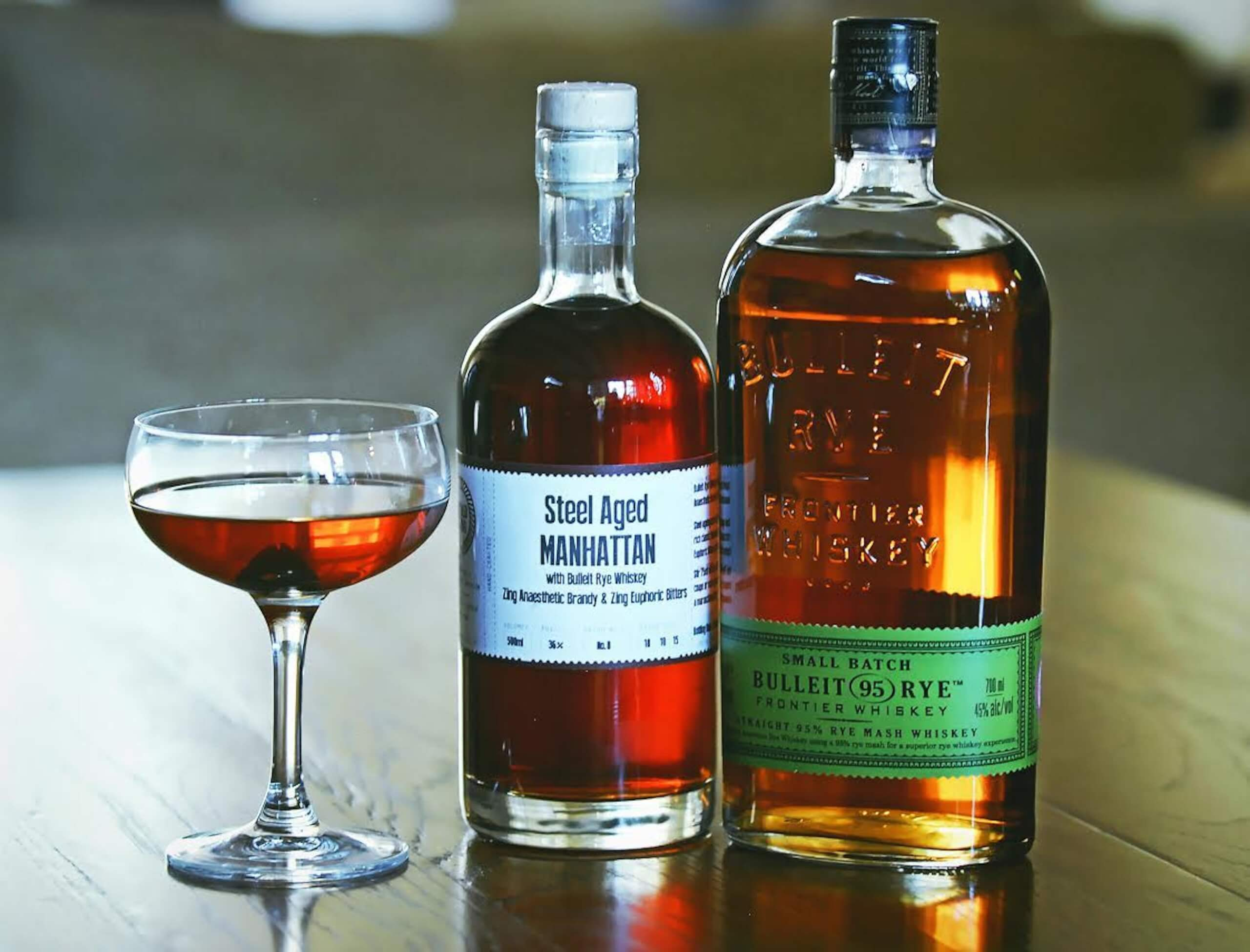 STEEL AGED BULLEIT MANHATTAN