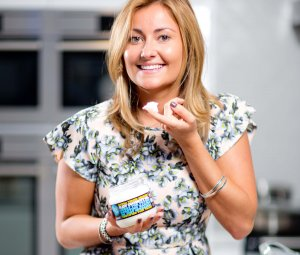 "Lucy Bee, founder of Lucy Bee Coconut oil company at a cooking demonstration in London. Picture - David Bebber   Material must be credited ""The Times/News Syndication"" unless otherwise agreed. 100% surcharge if not credited. Online rights need to be cleared separately. Strictly one time use only subject to agreement with News Syndication"