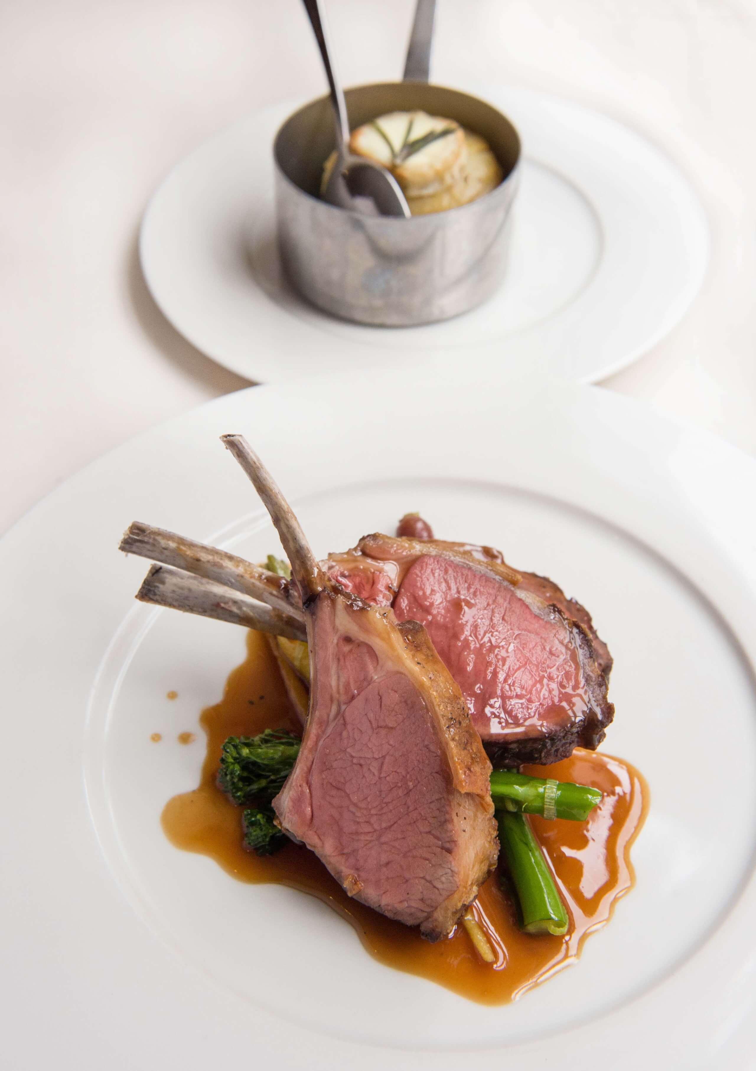 108 Brasserie - Roast rack of new season lamb and Bosworth Ash gratin 2