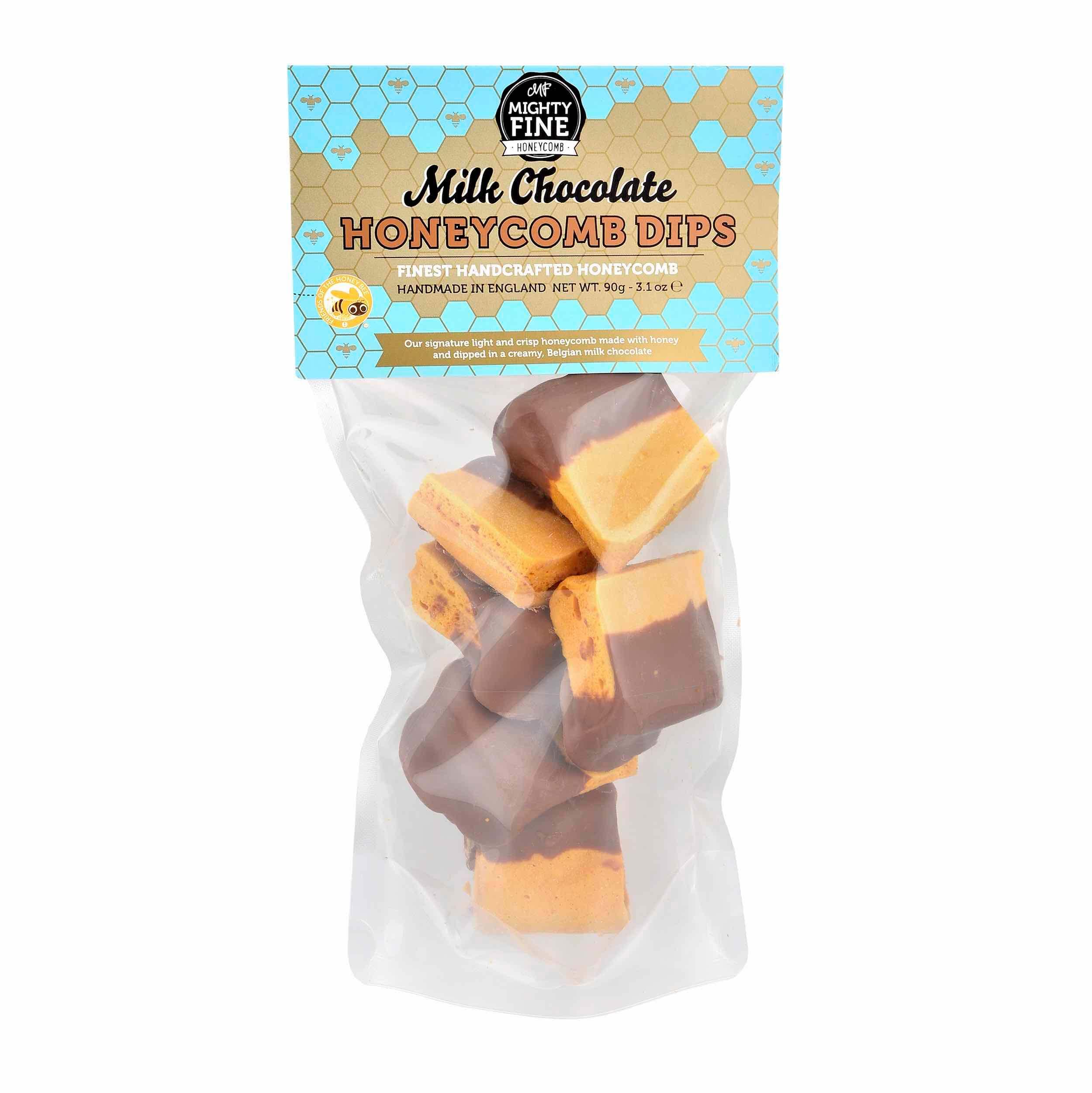 Honeycomb Dips 90g Milk Chocolate