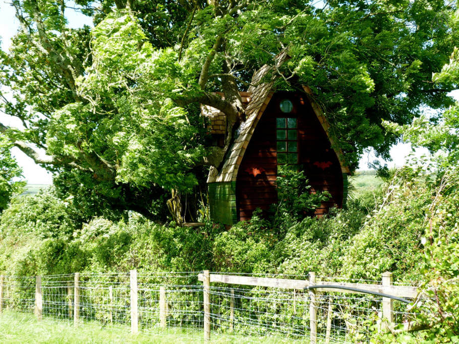 Alternatively, escape embarrassing parents in this rustic treehouse in Cornwall