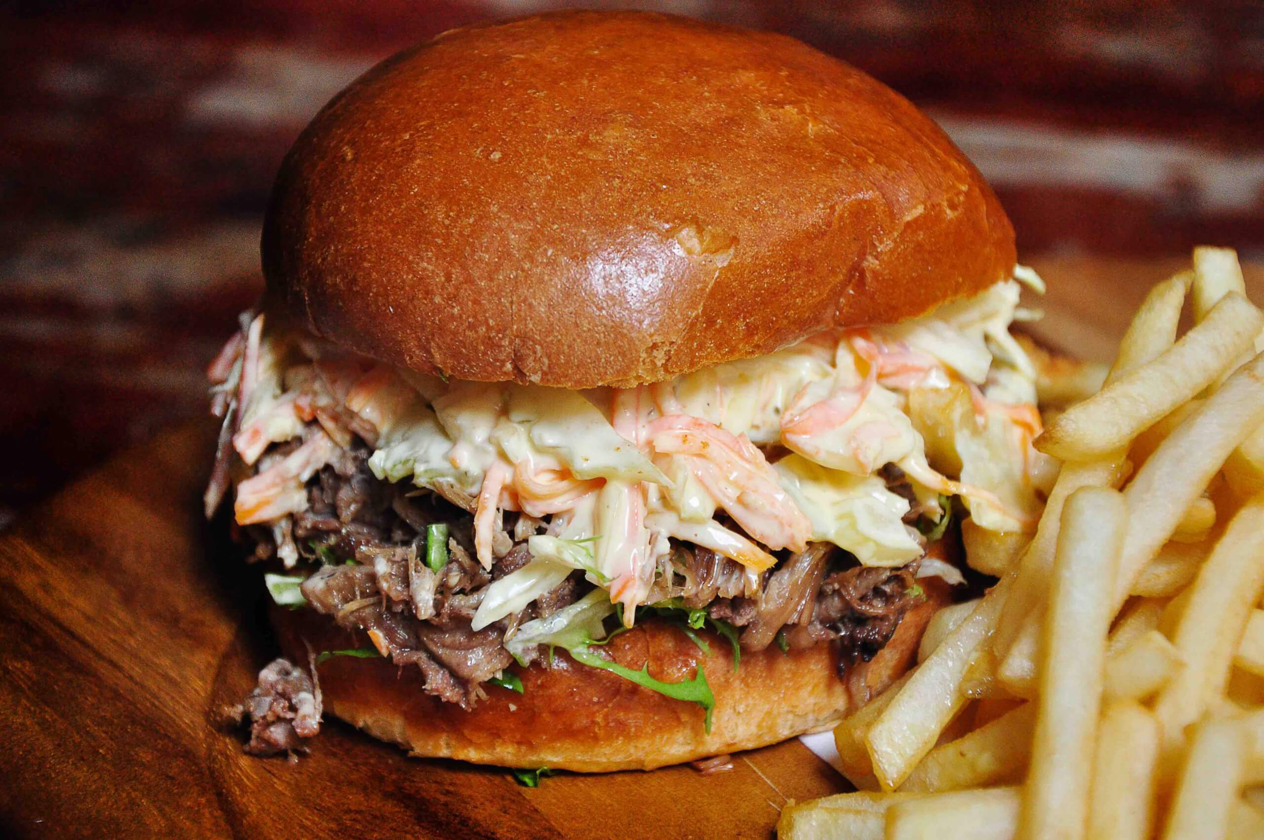 National Burger Day Pulled Duck Burger