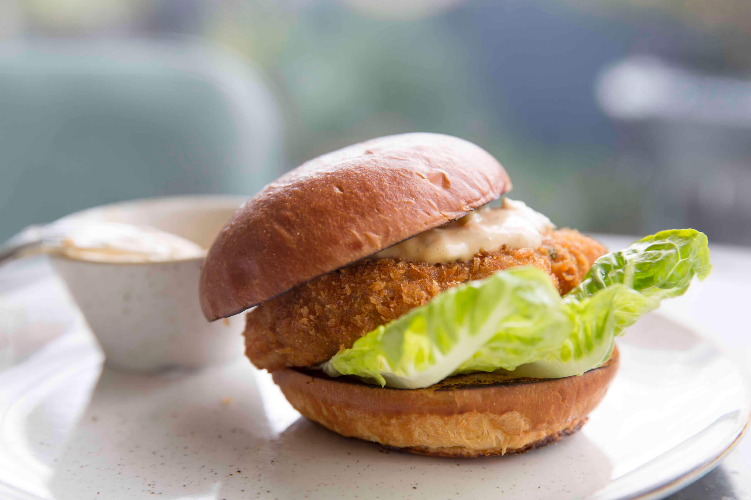Vintage Salt - Cornish shrimp burger, spicy tartare