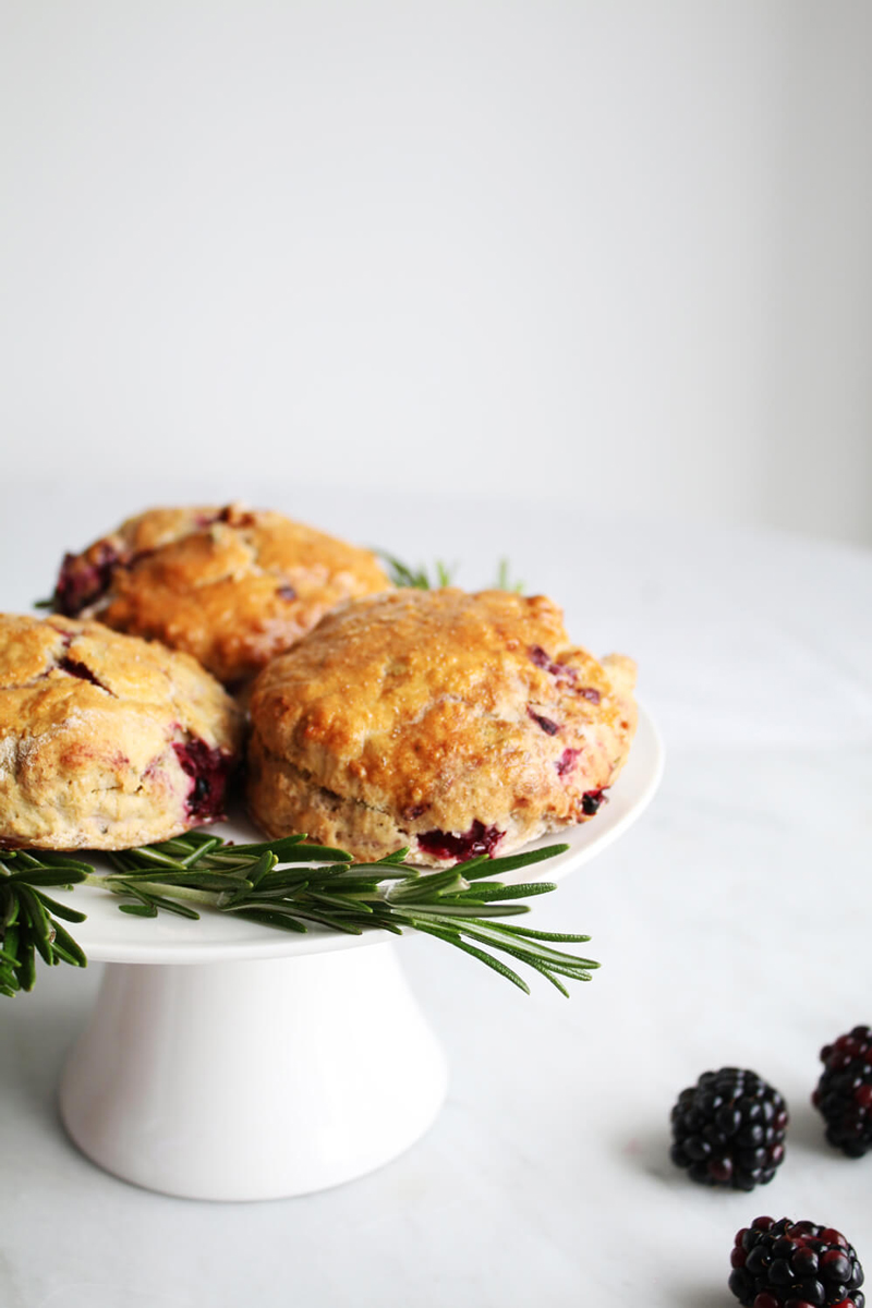 BerryWorld Blackberry and Rosemary Scones, Blackberry scones recipe, Blackberry rosemary scones recipe, vegan scones recipe