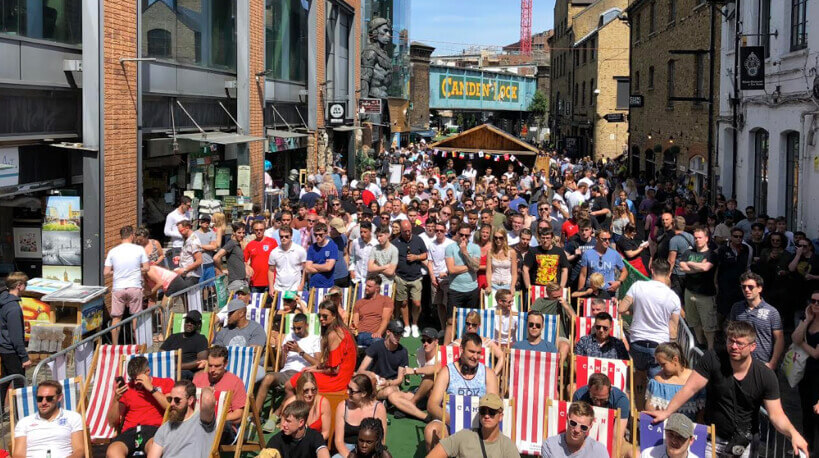 Places to Watch the England v Sweden Match in London, Places to Watch the football in London, Places to Watch the world cup in London