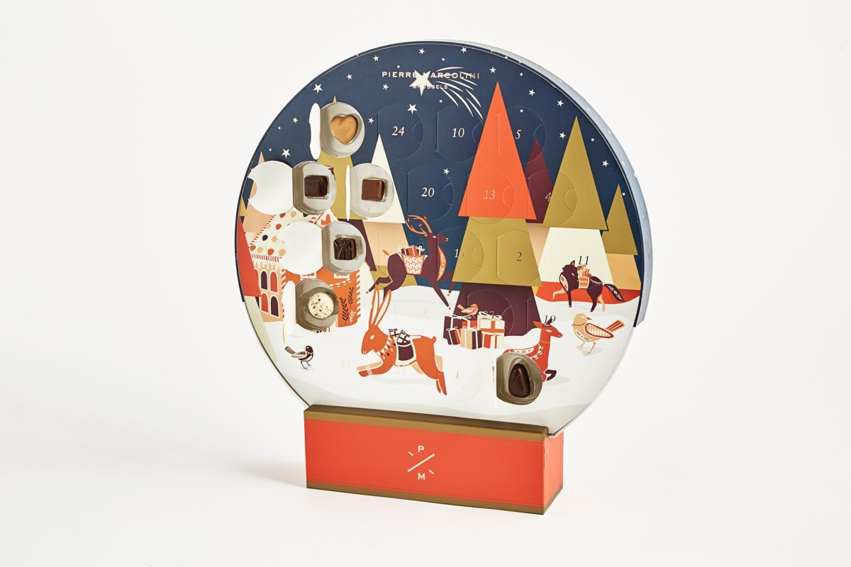 Pierre Marcolini Giant Snow Globe Advent Calendar