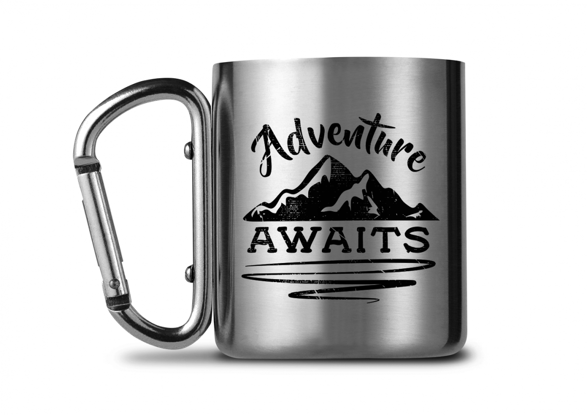 carabiner mug for adventure travellers