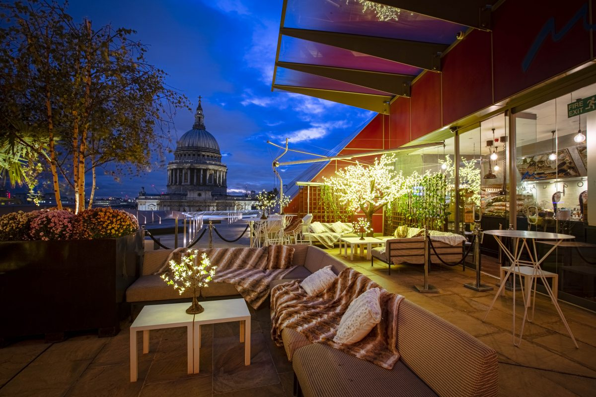 Madison rooftop bar with St Paul's