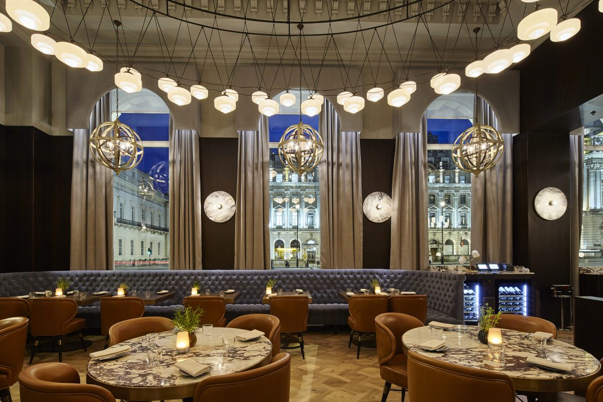 London hotel review, restaurant