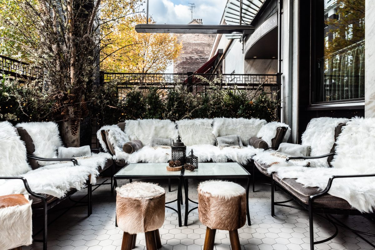 winter terraces in London - Churchill Bar & Terrace