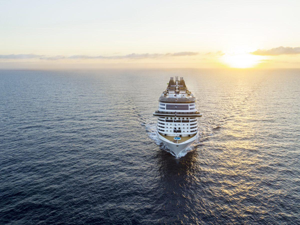 Cruise at sea
