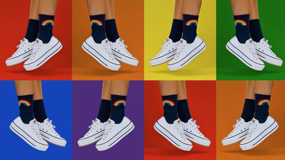 Orrsum rainbow socks