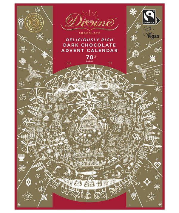 Divine Chocolate, Divine Chocolateadvent calendar, Divine advent calendar
