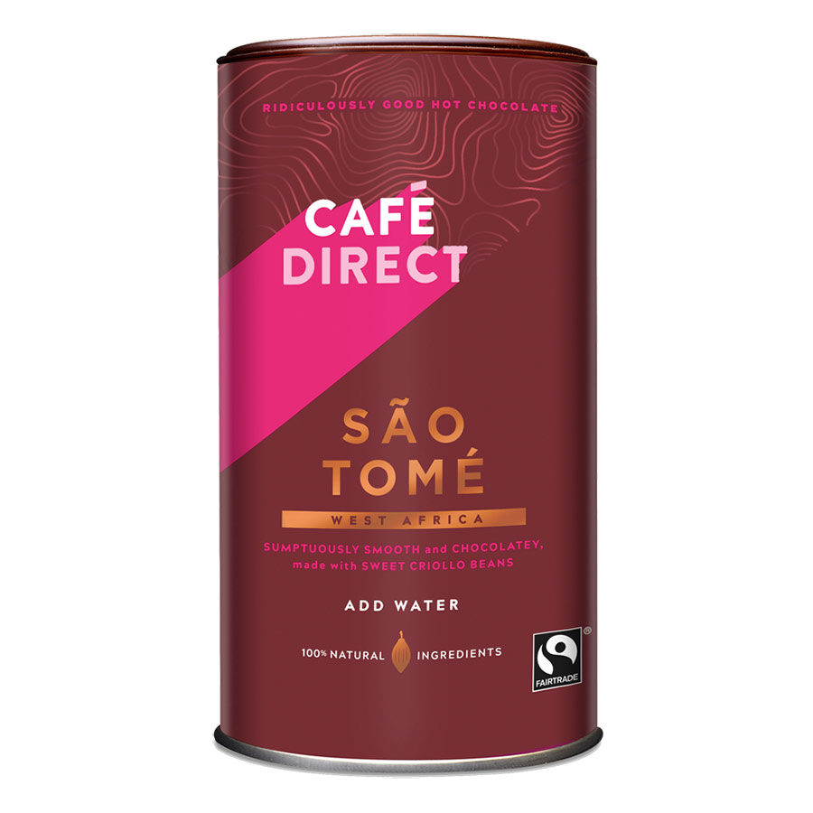Cafédirect Sao Tome Hot Chocolate, best fairtrade chocolate brands, fairtrade chocolate brands, fairtrade chocolate brands 2019, fairtrade chocolate, fairtrade fortnight