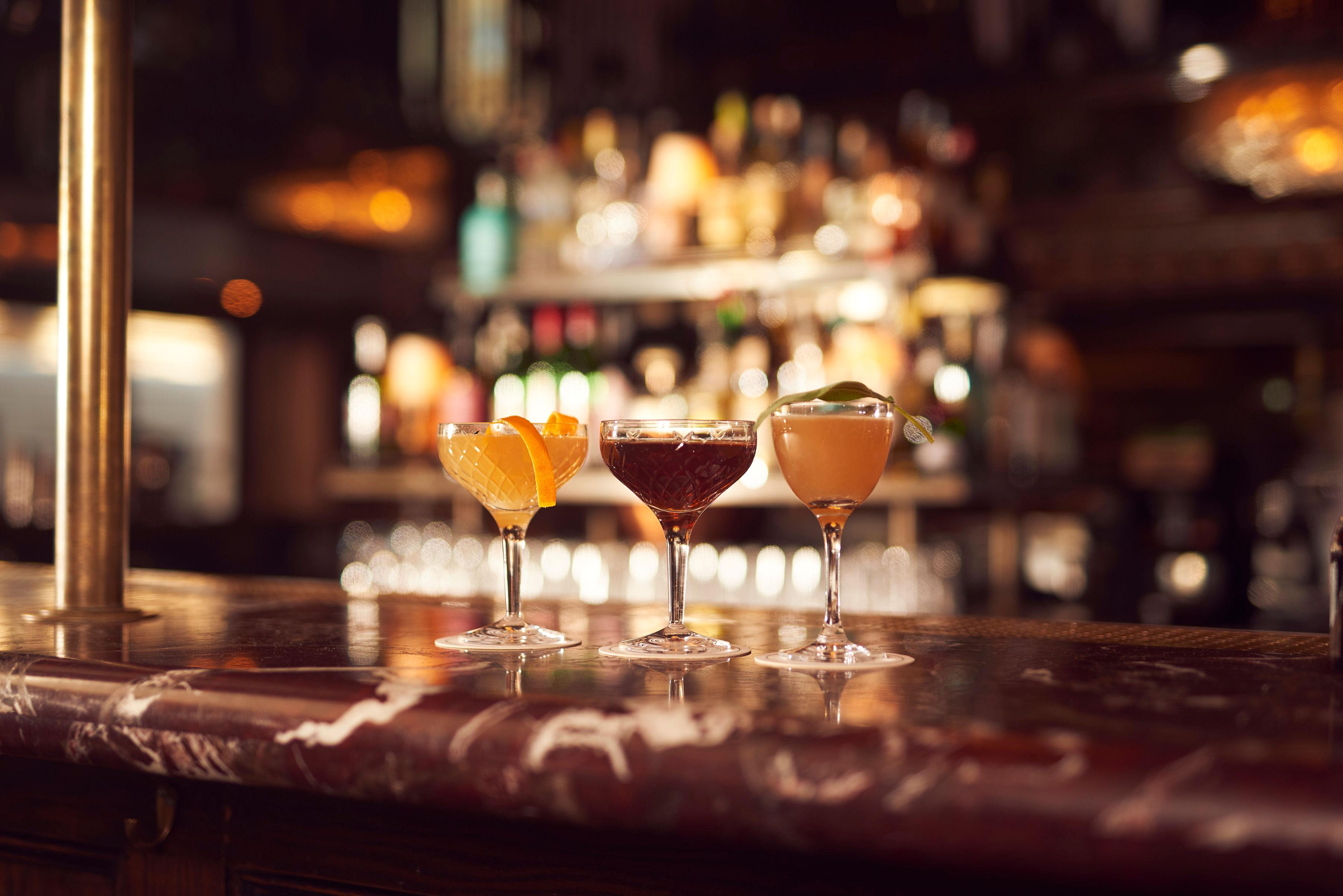 grand marnier cocktails, grand marnier pre-theatre cocktails, the grand menu