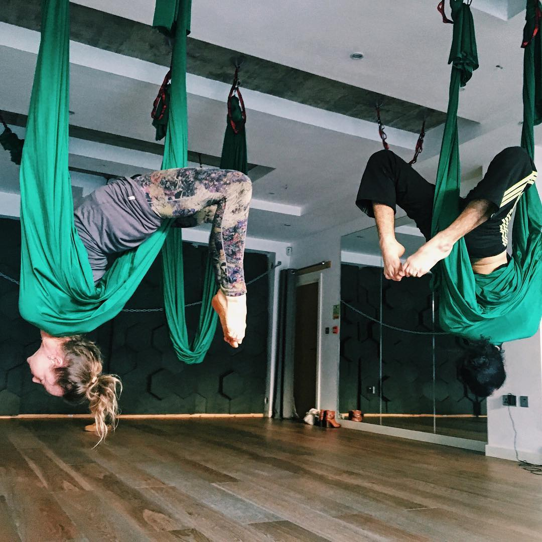 best classpass classes in london, aerial yoga, aerial yoga in london, the lodge space